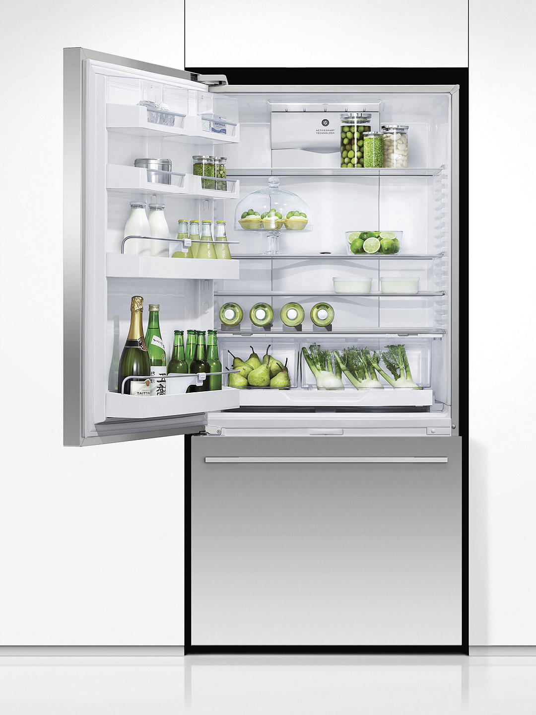 Buy Fisher & Paykel RF522WDLUX4 Freestanding 70/30 Fridge Freezer, A+ Energy Rating, 80cm Wide, Stainless Steel Online at johnlewis.com