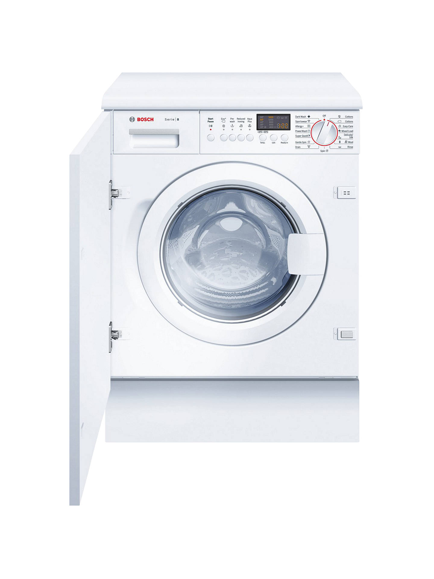 BuyBosch WIS28441GB Integrated Washing Machine, 7kg Load, A+ Energy Rating,  1400rpm Spin Online ...