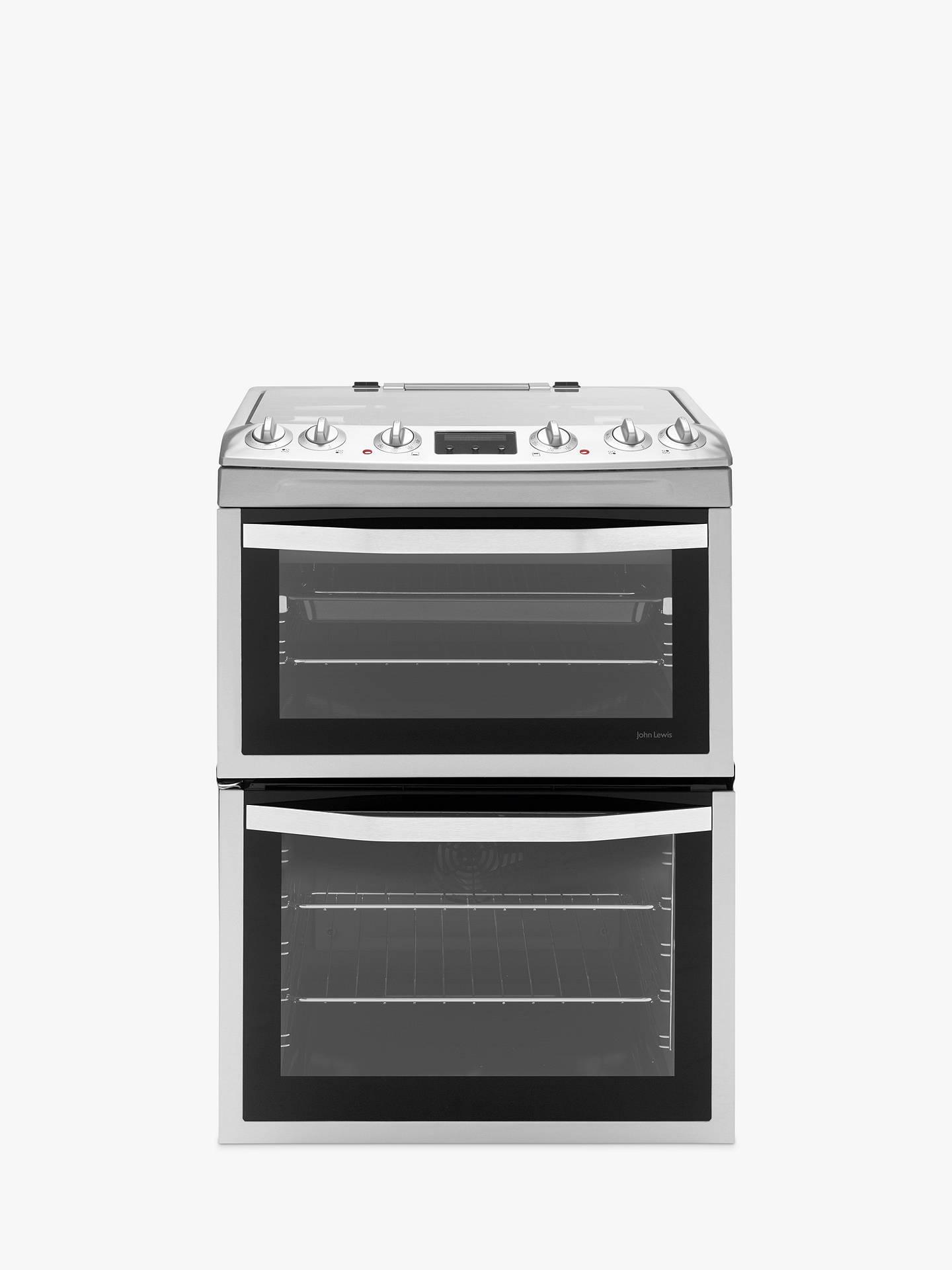 John Lewis Partners Jlfsmc613 Dual Fuel Cooker Stainless Steel