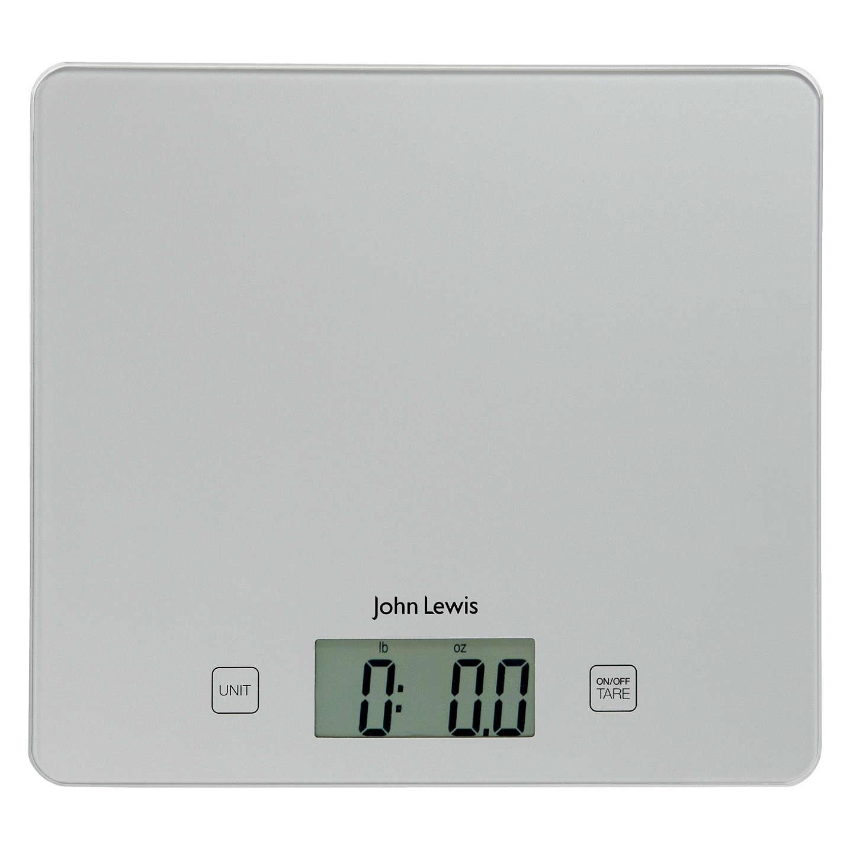 John Lewis Flat Digital Kitchen Scale, 5kg at John Lewis