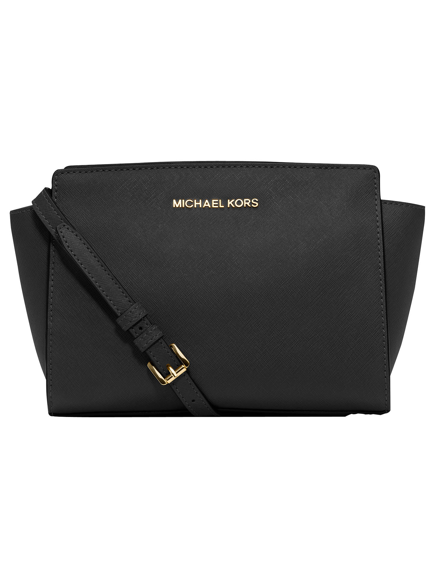 10d392dcf9f4 Buy MICHAEL Michael Kors Selma Mid Leather Messenger Bag, Black Online at  johnlewis.com ...