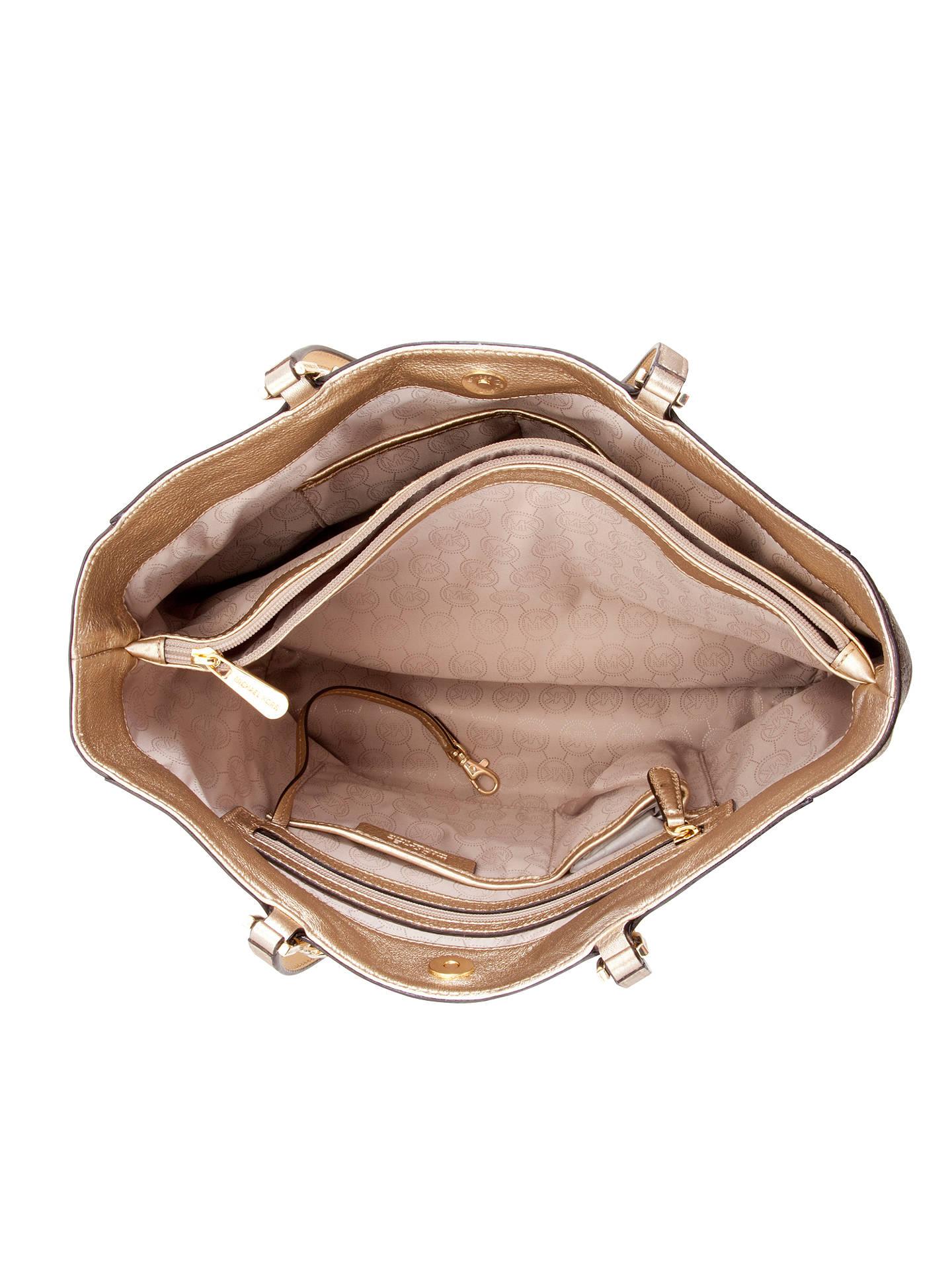 d90b40725e798a ... wholesale buymichael michael kors harper large east west leather tote  bag pale gold online at 91454