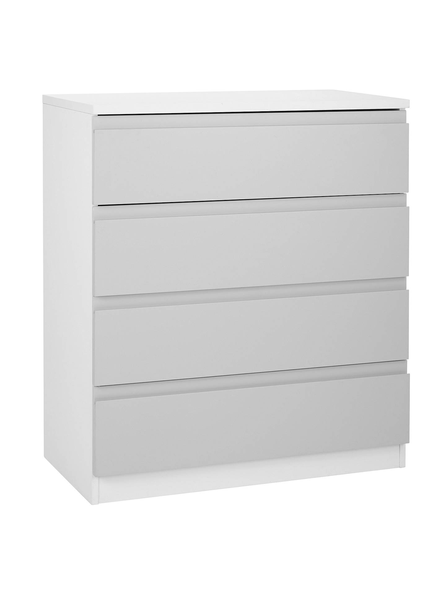 House By John Lewis Mix It Wide 4 Drawer Chest House Smoke Matt White At John Lewis Partners