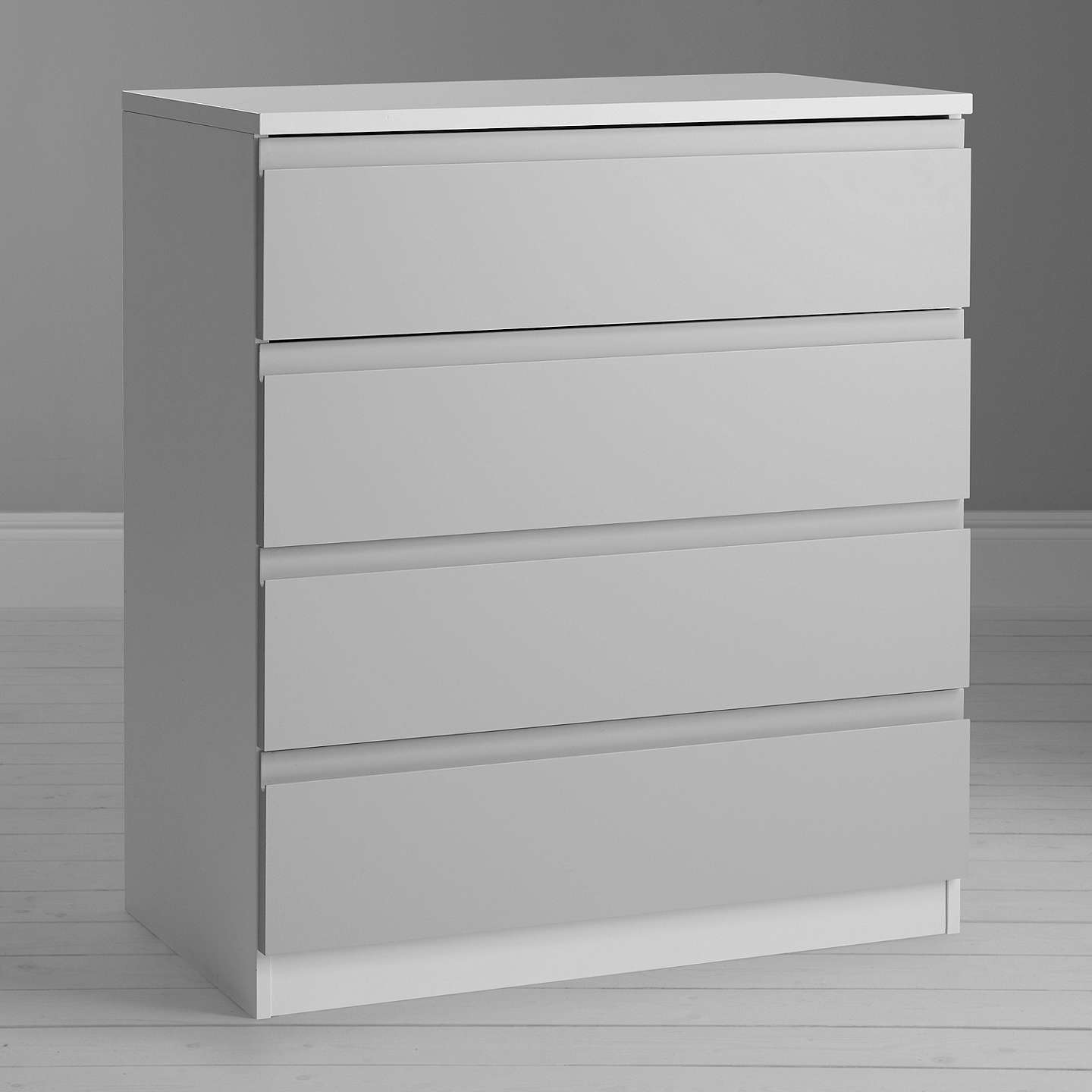BuyHouse by John Lewis Mix it Wide 4 Drawer Chest, House Smoke/Matt White Online at johnlewis.com