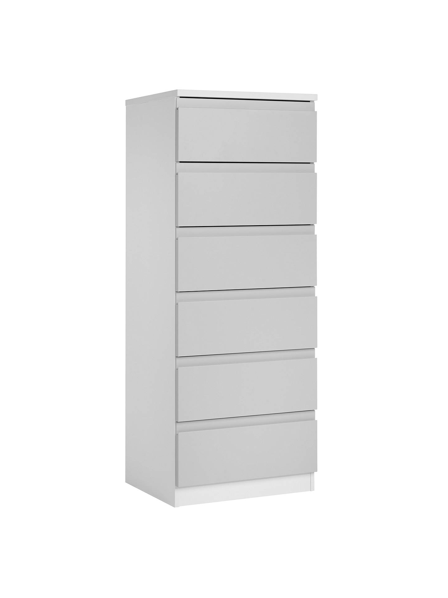 BuyHouse by John Lewis Mix it Narrow 6 Drawer Chest, House Smoke/Matt White Online at johnlewis.com