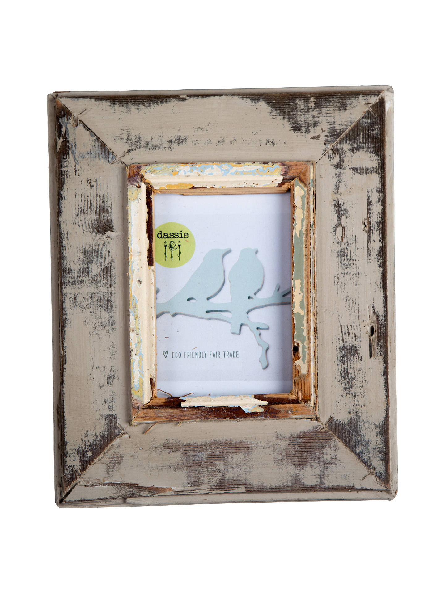 Dassie Rustic Frame, Putty, 4 x 6\