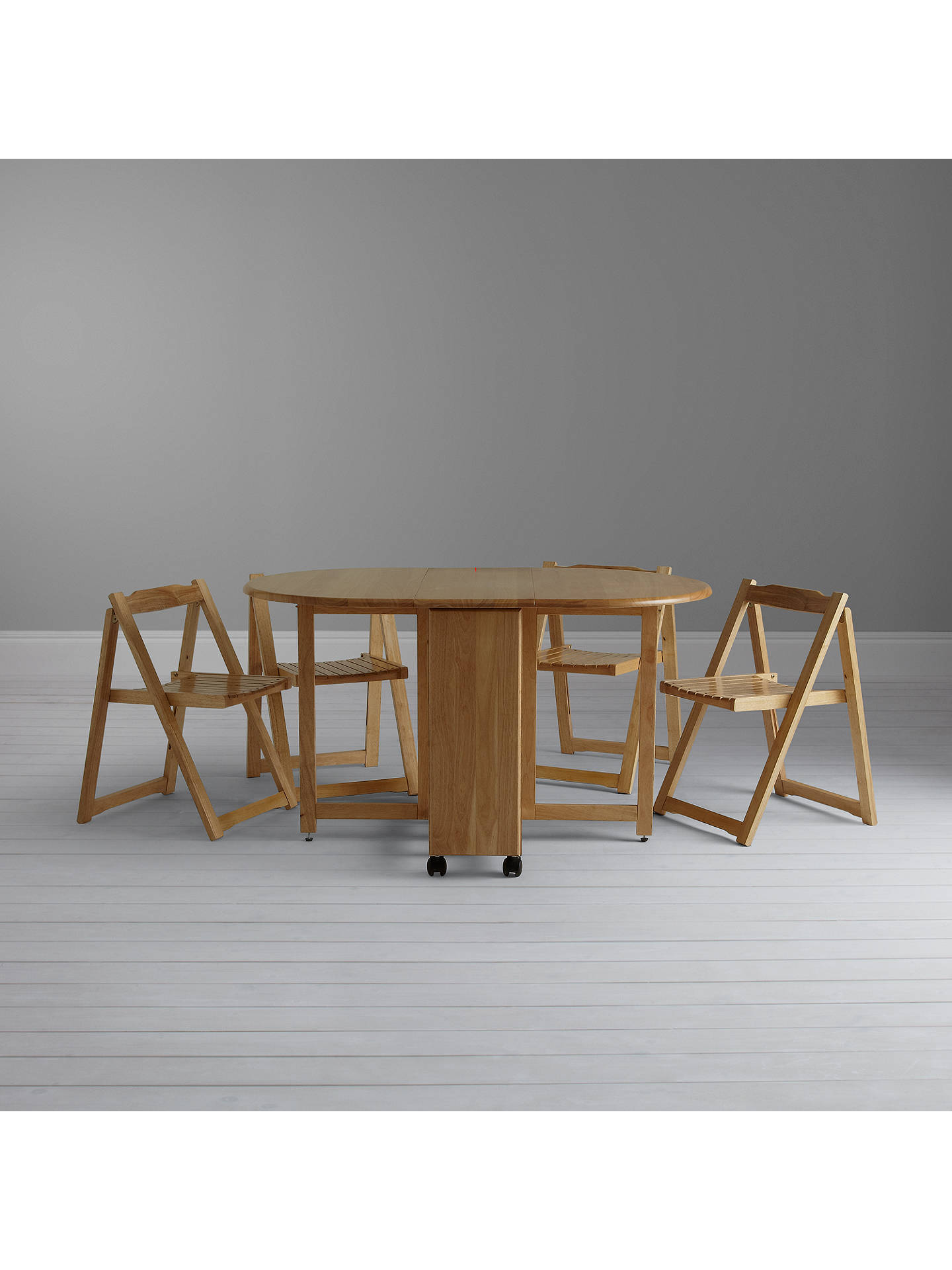 114f3f90e24 ... Buy John Lewis Butterfly Drop Leaf Folding Dining Table and Four Chairs