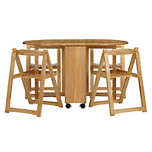 Buy John Lewis Butterfly Drop Leaf Folding Dining Table and Four Chairs Online at johnlewis.com
