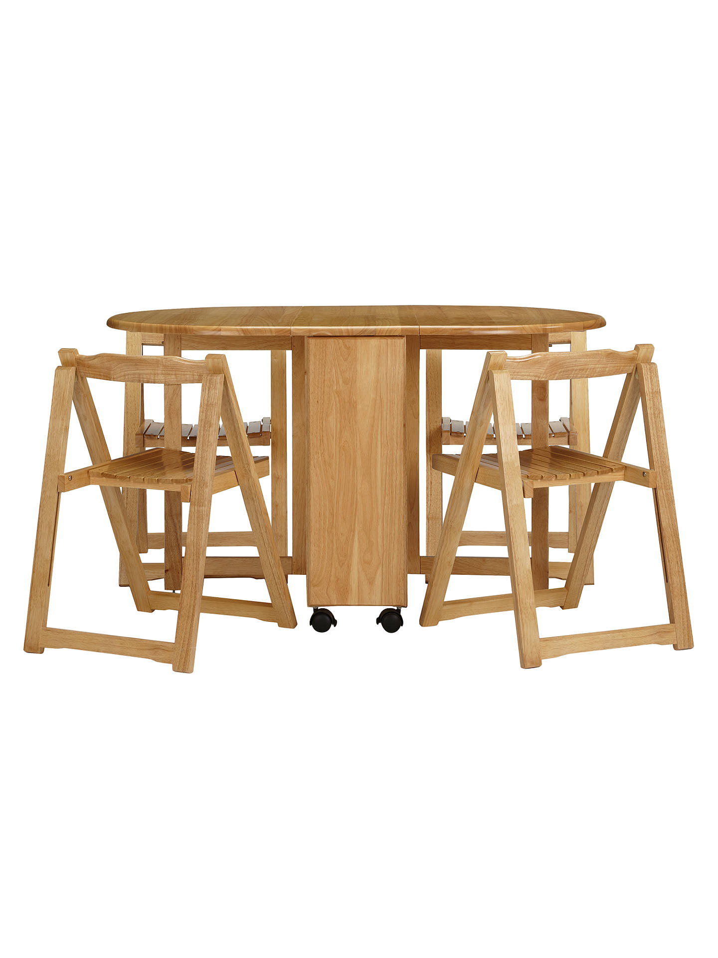 John Lewis Erfly Drop Leaf Folding Dining Table And Four Chairs Natural Online At