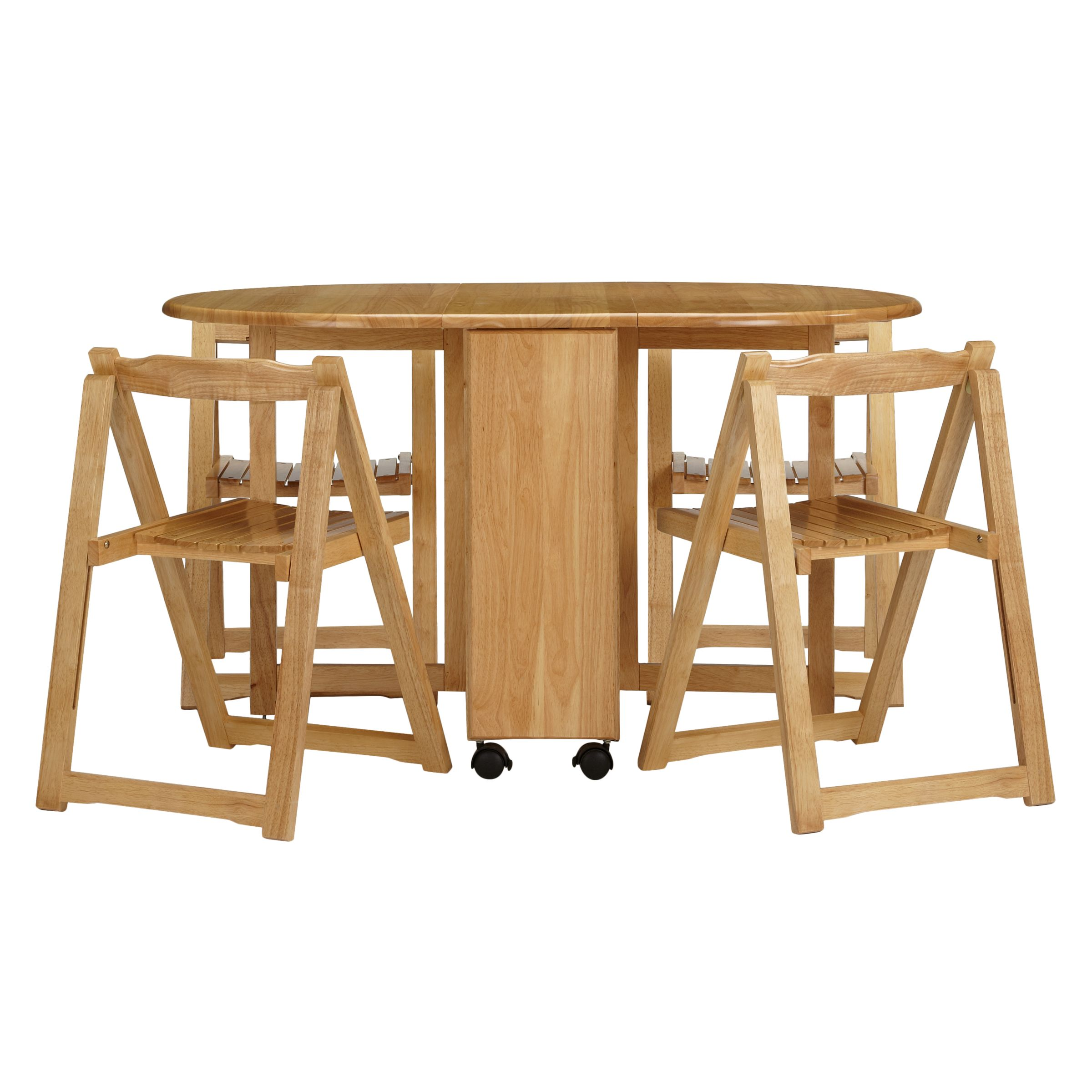 John Lewis Butterfly Drop Leaf Folding Dining Table And Four Chairs At John Lewis Partners