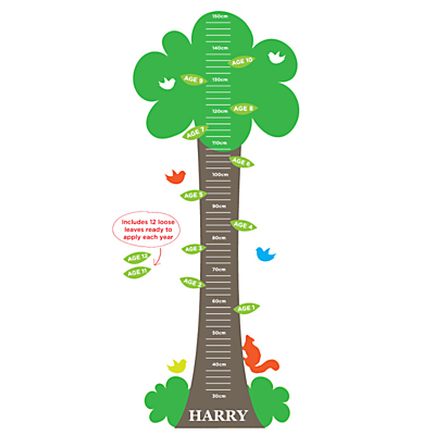 Megan Claire Tree Height Chart Wall Sticker