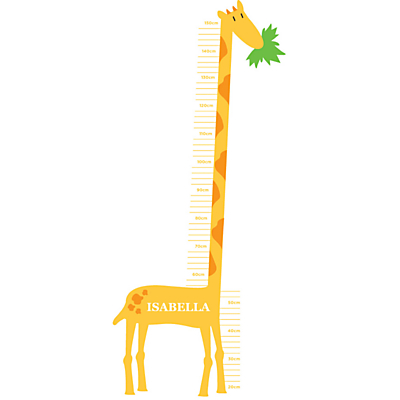 Megan Claire Giraffe Height Chart Wall Sticker