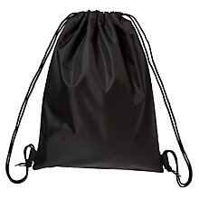 Buy School PE Drawstring Bag, Black Online at johnlewis.com