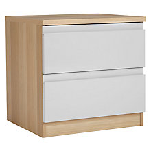 Buy House by John Lewis Mix it 2 Drawer Bedside Chest, House Smoke/Natural Oak Online at johnlewis.com