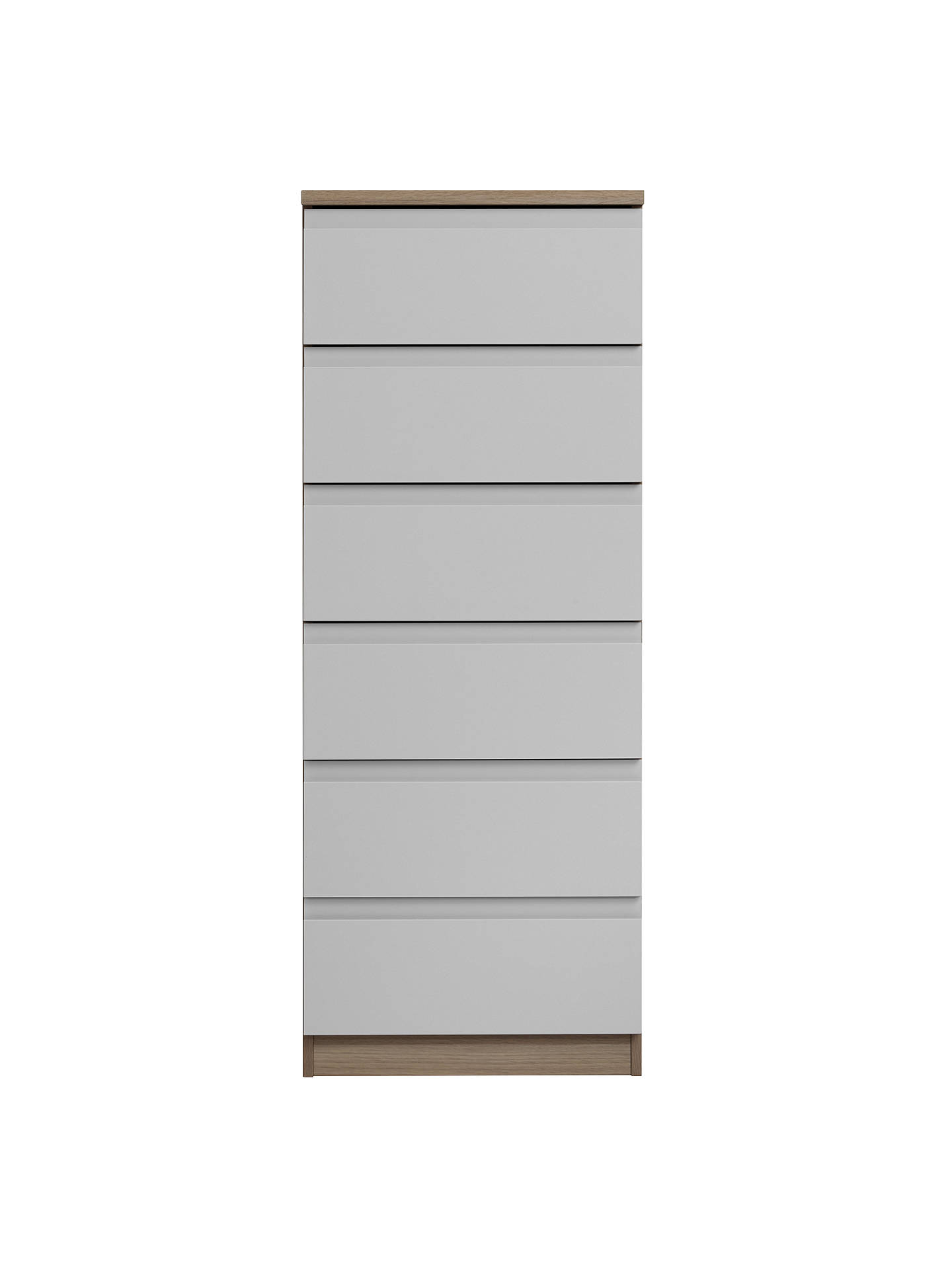 BuyHouse by John Lewis Mix it Narrow 6 Drawer Chest, House Smoke/Grey Ash Online at johnlewis.com