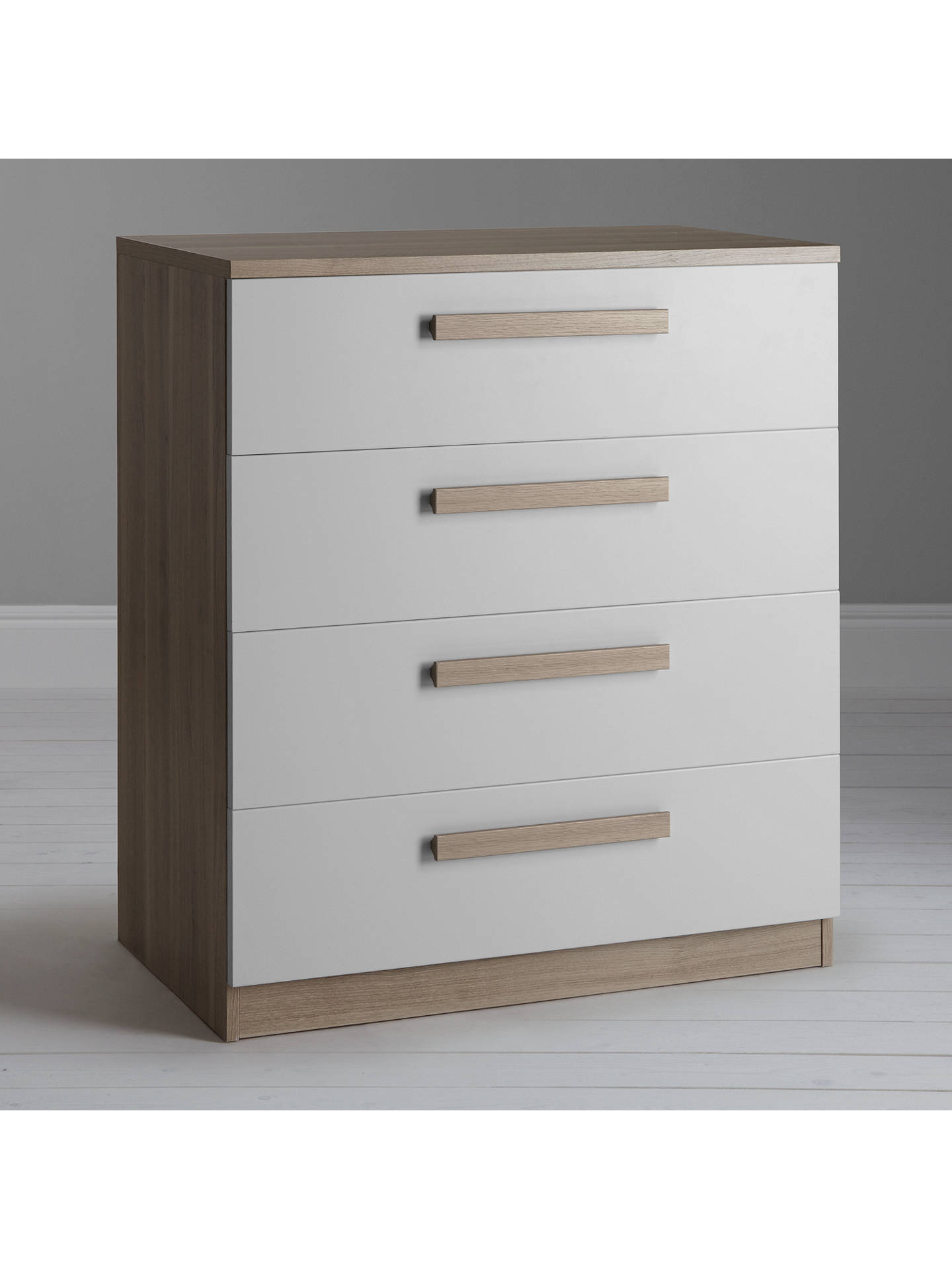 BuyHouse by John Lewis Mix it Block Handle Wide 4 Drawer Chest, House Smoke/Grey Ash Online at johnlewis.com