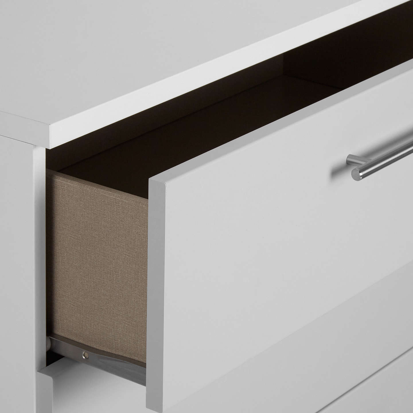 BuyHouse by John Lewis Mix it T-Bar Handle Wide 4 Drawer Chest, House Smoke/Matt White Online at johnlewis.com