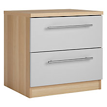 Buy House by John Lewis Mix it T-Bar Handle Bedside Chest, House Smoke/Natural Oak Online at johnlewis.com
