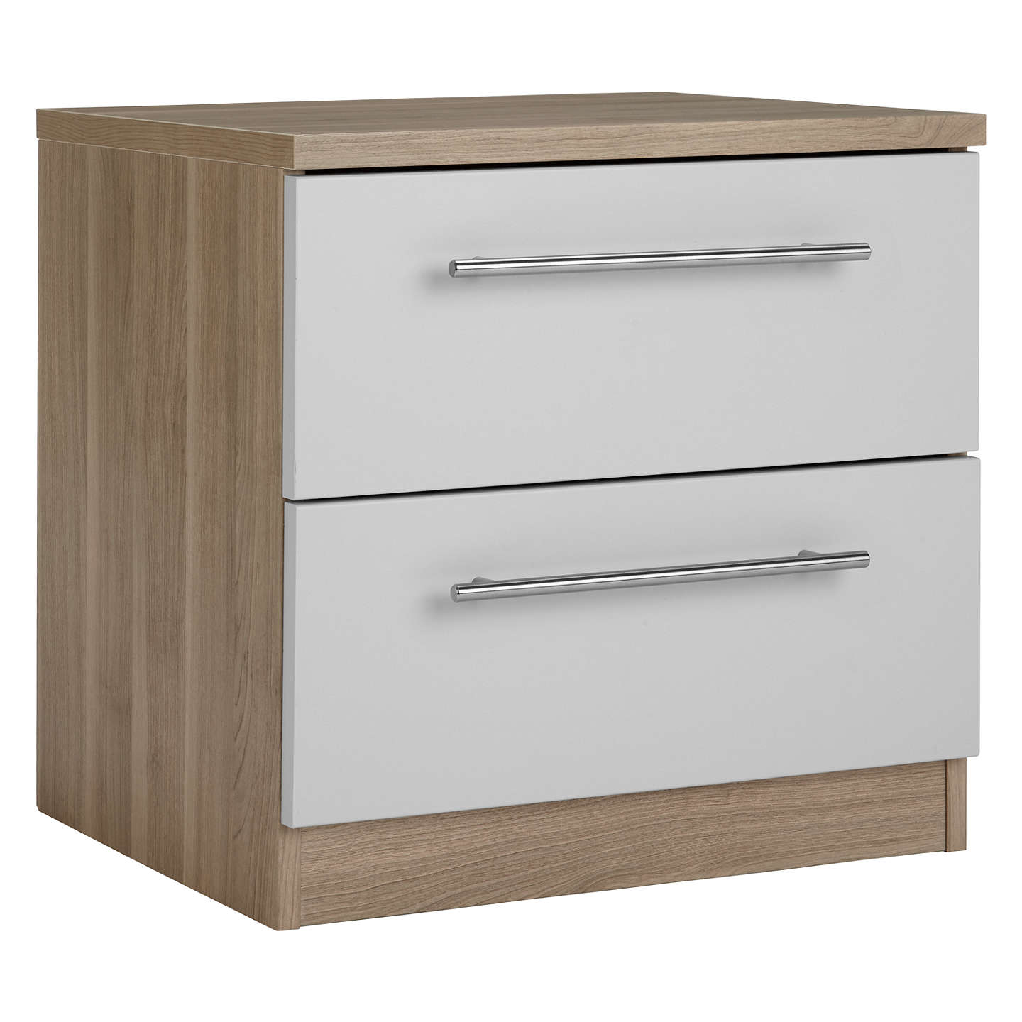 BuyHouse by John Lewis Mix it T-Bar Handle Bedside Chest, House Smoke/Grey Ash Online at johnlewis.com