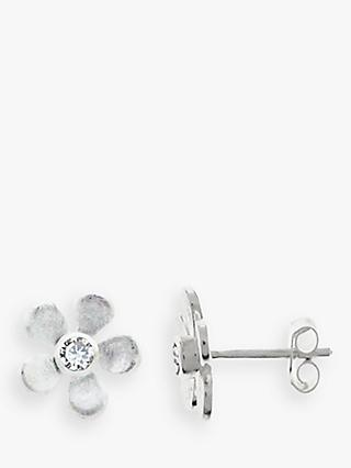 Nina B Sterling Silver Flower Stud Earrings