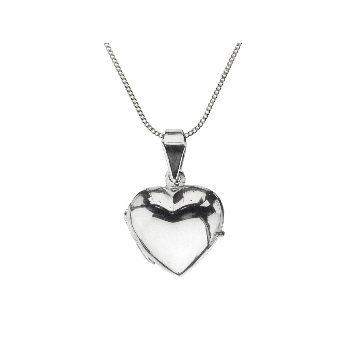 jewelry heart silver necklace shaped pendant floating bling ribbon appl jtn open