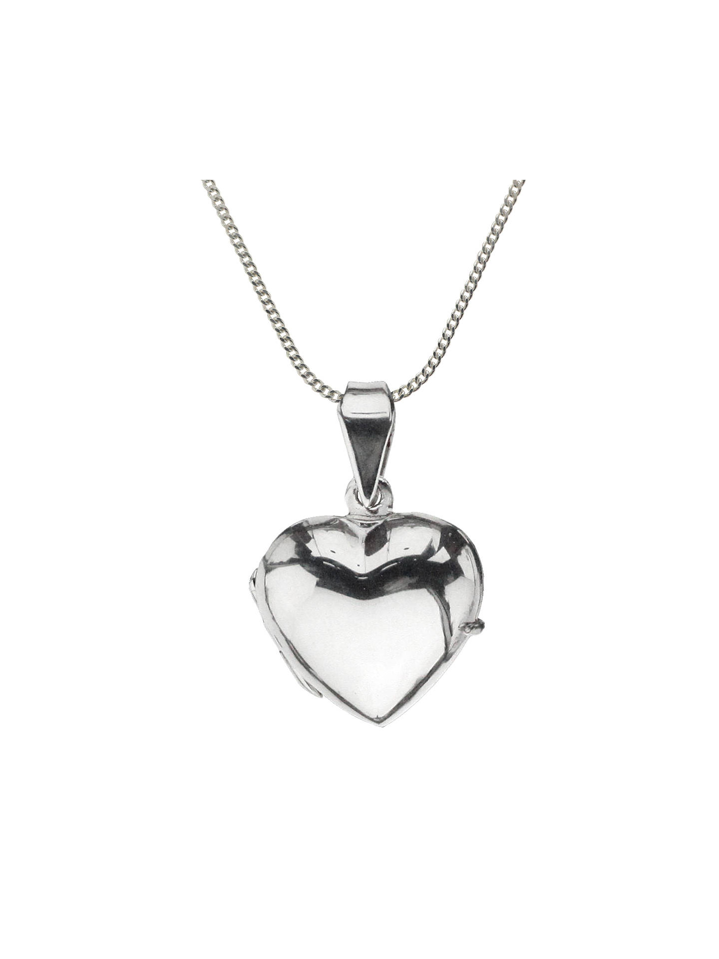 fbba768202 Buy Nina B Sterling Silver Heart Shaped Locket Chain Pendant Online at  johnlewis.com ...