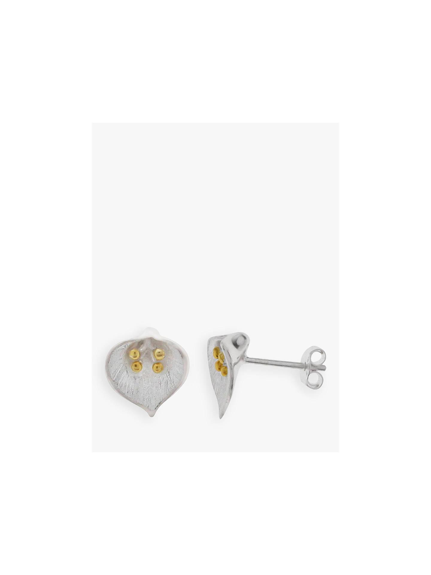 Silver Flower Stud Earrings