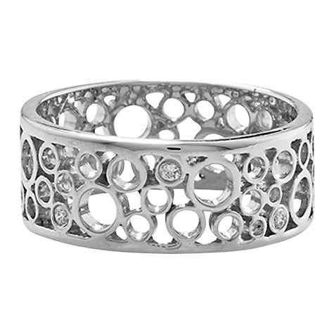Buy London Road 9ct White Gold Diamond Bubble Ring, White Gold Online at johnlewis.com