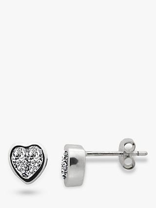 Nina B Sterling Silver Heart Stud Earrings