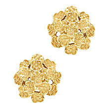 Buy London Road 9ct Yellow Gold Domed Posy Stud Earrings, Gold Online at johnlewis.com