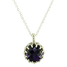 Buy London Road 9ct Gold Chequer Cut Stone Pendant Online at johnlewis.com