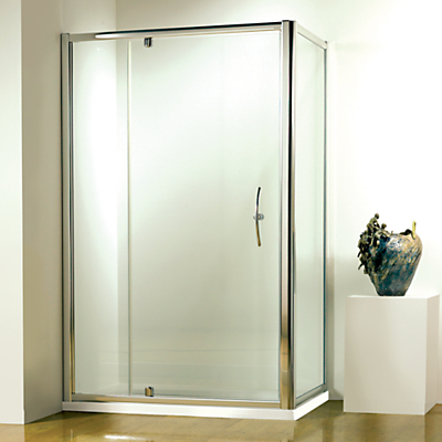 John Lewis 90 x 90cm Shower Enclosure with Pivot Door and Side Panel