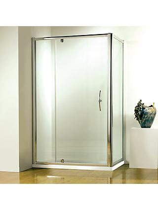 John Lewis & Partners 120 x 80cm Shower Enclosure with Pivot Door and Side Panel
