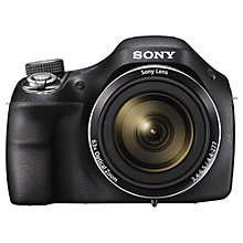 "Buy Sony Cyber-Shot DSC-H400 Bridge Camera, HD 720p, 20.1MP, 63x Optical Zoom, 3"" LCD Screen Online at johnlewis.com"
