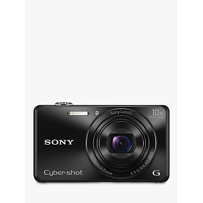 "Sony Cyber-shot DSC-WX220 Camera, HD 1080p, 18.2MP, 10x Optical Zoom, Wi-Fi, NFC, 2.7"" Screen"