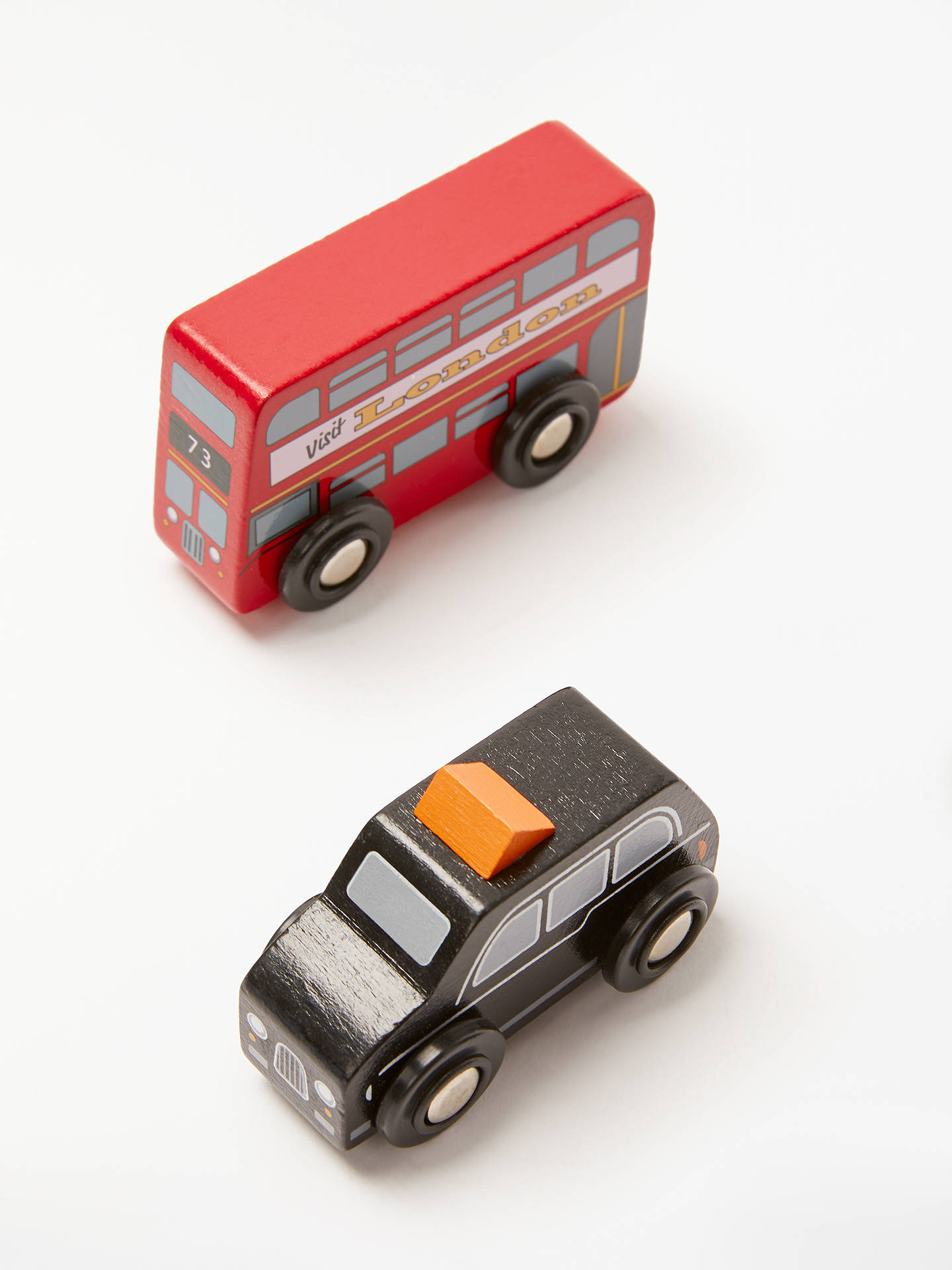 BuyJohn Lewis & Partners Wooden London Bus And Black Cab Set Online at johnlewis.com