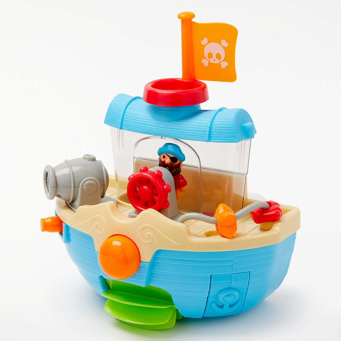 John Lewis Bathtime Water Pirate Boat at John Lewis