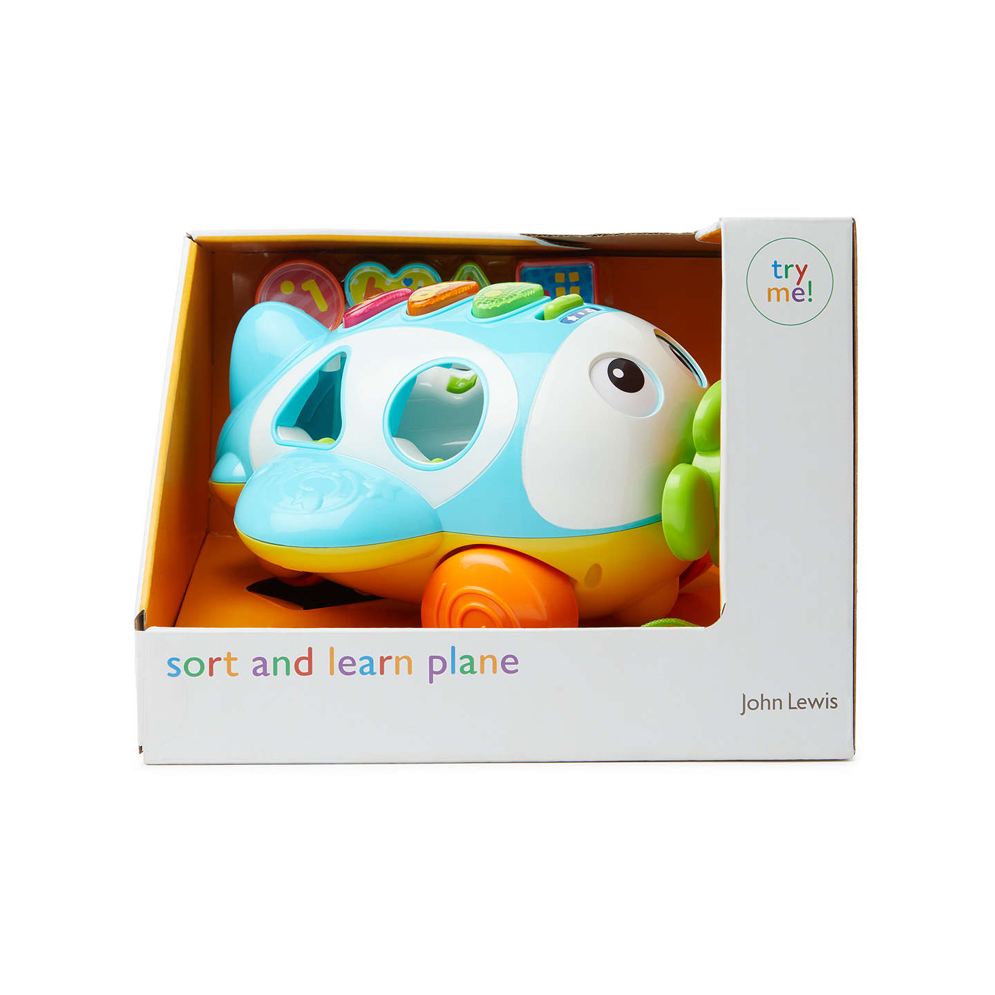 BuyJohn Lewis Sort & Learn Pull-Along Plane Toy Online at johnlewis.com