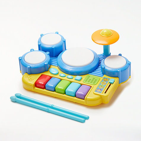Buy John Lewis Bopping Beats Drumkit and Keyboard Online at johnlewis.com