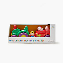 Buy John Lewis Musical Farm Tractor & Trailer Playset Online at johnlewis.com