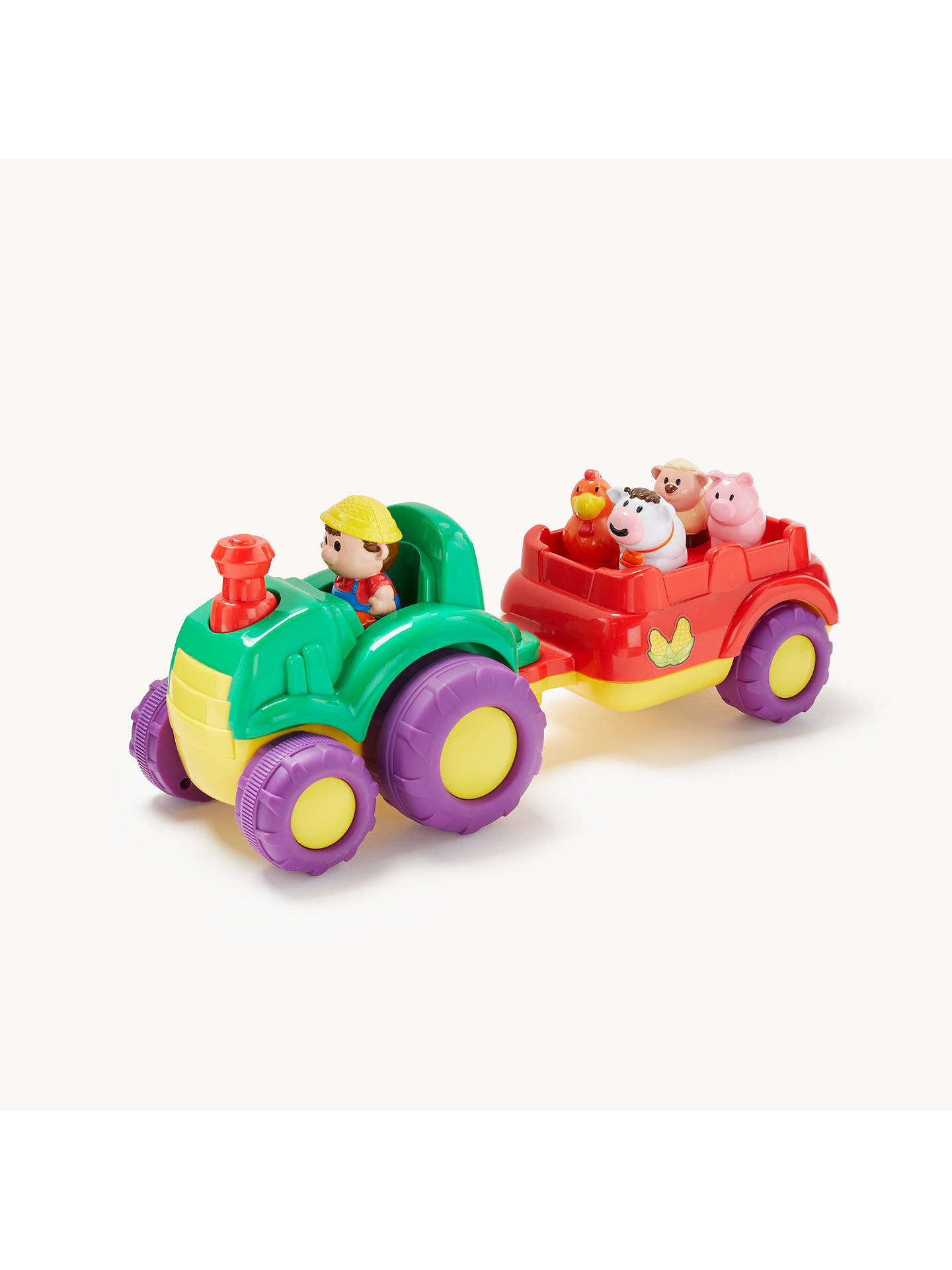 BuyJohn Lewis & Partners Musical Farm Tractor & Trailer Playset Online at johnlewis.com