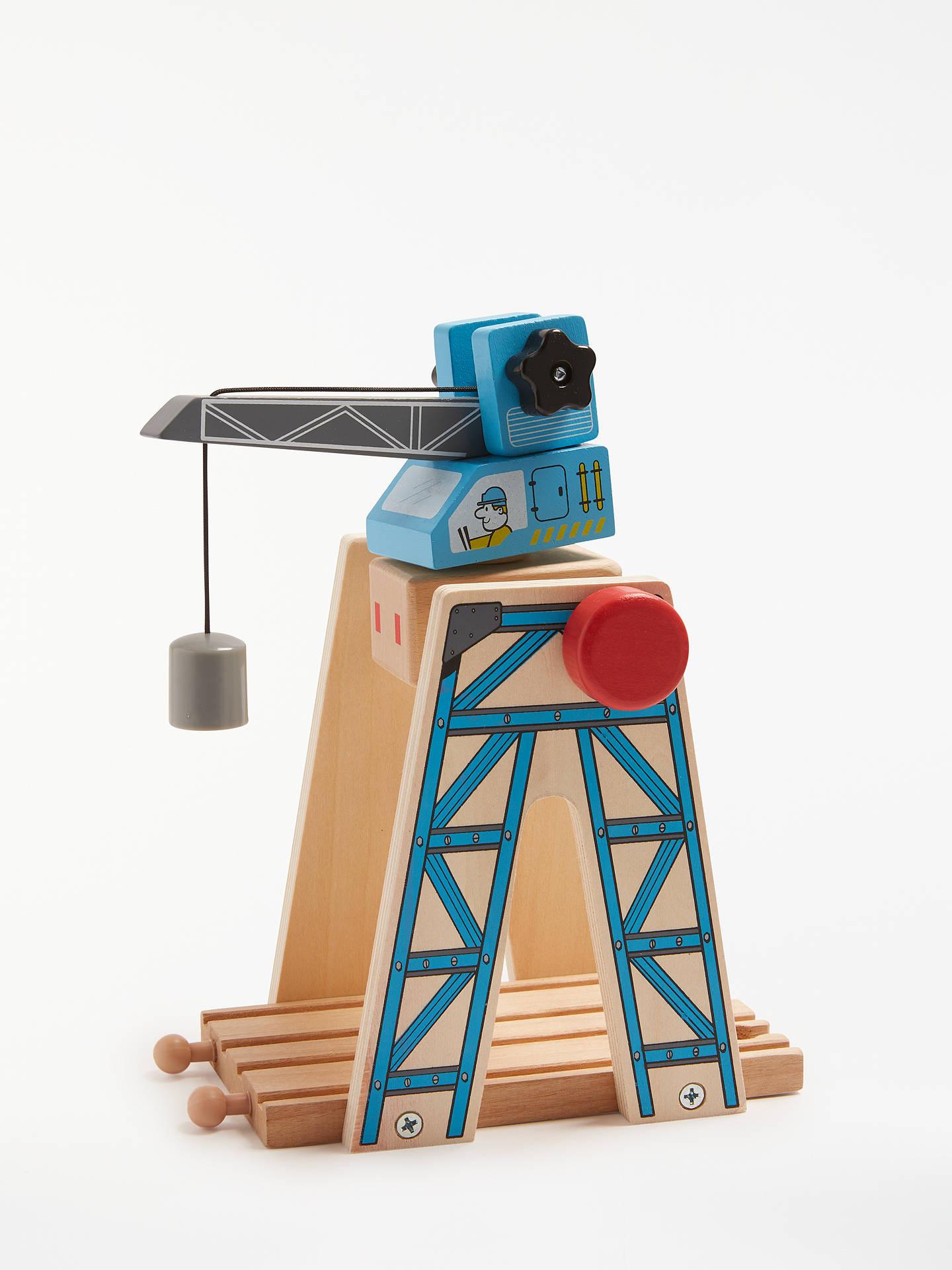 John Lewis Partners Wooden Crane Playset
