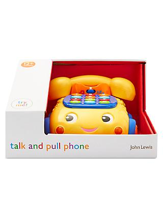 John Lewis & Partners Talk And Pull Phone Toy