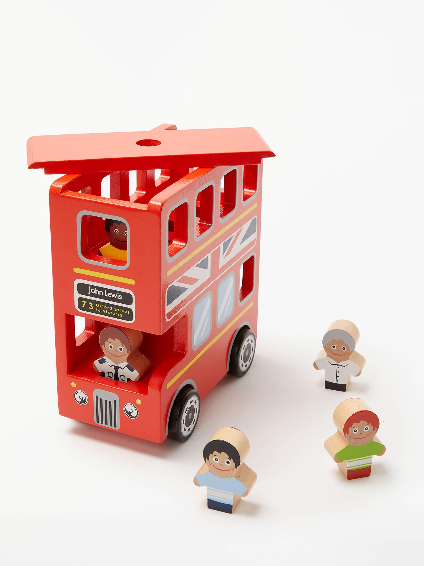 John Lewis & Partners Wooden London Double-Decker Bus