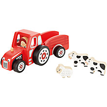 Buy John Lewis Wooden Tractor and Trailer Online at johnlewis.com