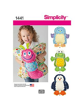 Simplicity Animal Cushions Sewing Pattern, 1441