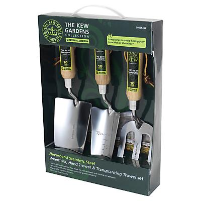 Kew Gardens 3-Piece Gardening Tool Gift Set, Stainless Steel