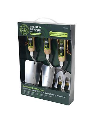 Kew Gardens 3 Piece Gardening Gift Set Stainless Steel