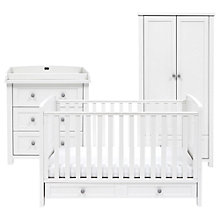 Buy Silver Cross Nostalgia Cotbed, Dresser and Wardrobe, Antique White/Silver Online at johnlewis.com