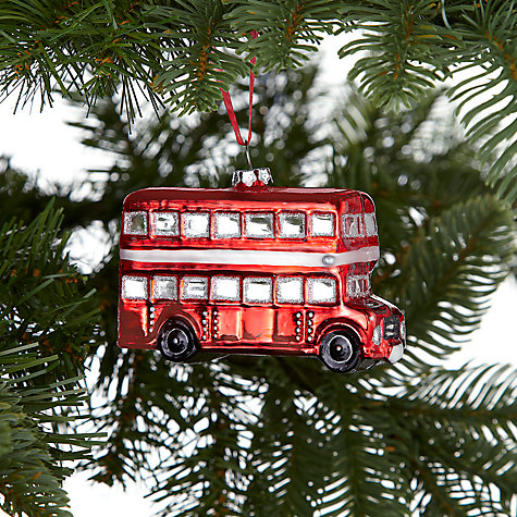 Buy John Lewis Tourism Glass London Bus Decoration Red  John Lewis